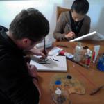 Matt and Zoe painting